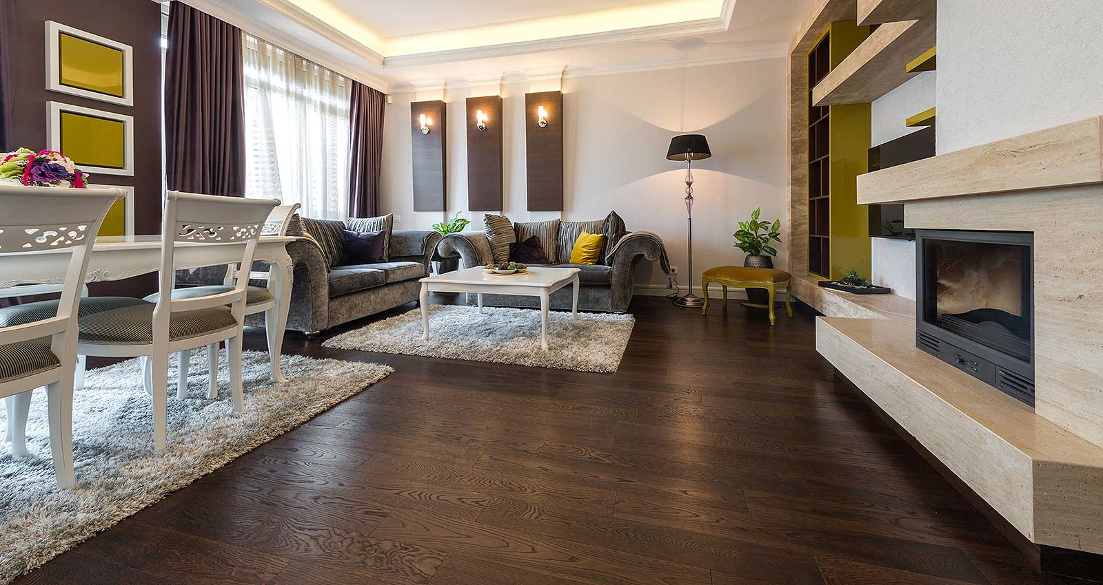 Living Room with hardwood flooring